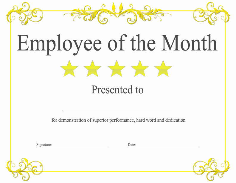 Employee Of the Month Template Best Of Employee the Month Template