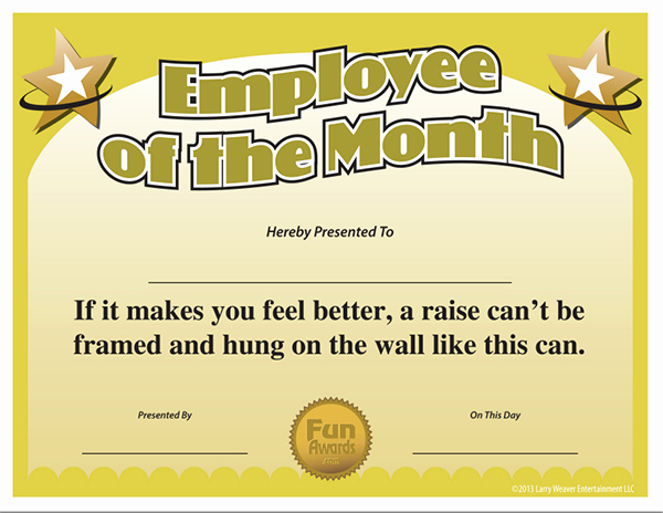 Employee Of the Month Template Elegant Employee the Month Template