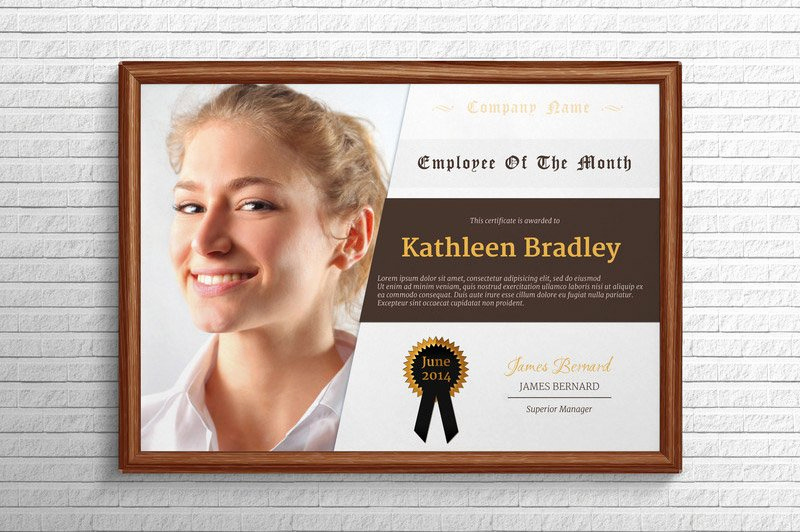 Employee Of the Month Template New Employee the Month Certificate Stationery Templates