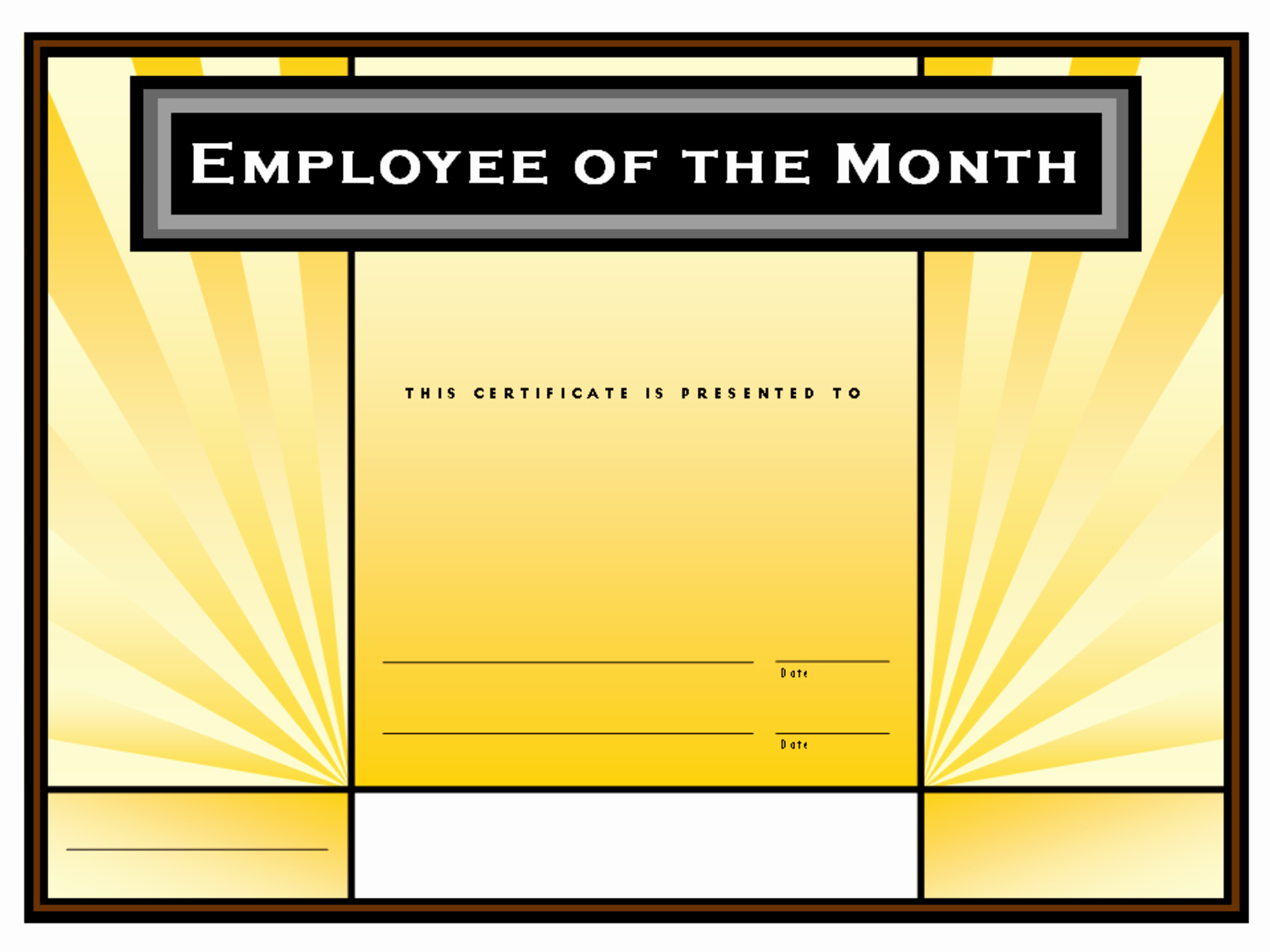Employee Of the Month Template Unique Employee Of the Month format Driverlayer Search Engine
