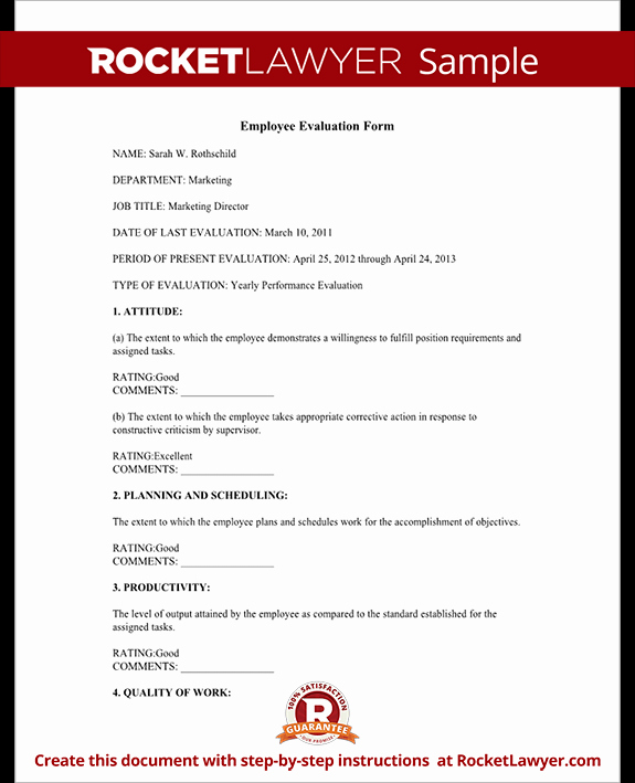 Employee Performance Evaluation format Luxury Employee Evaluation form Employee Performance Appraisal