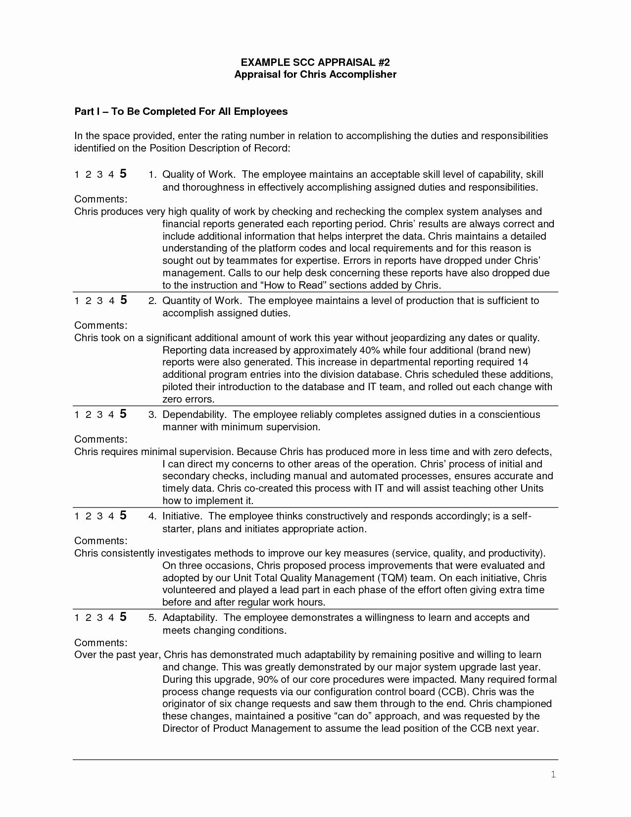 Employee Performance Evaluation Samples Unique Sample Employee Evaluation Written by Manager Google