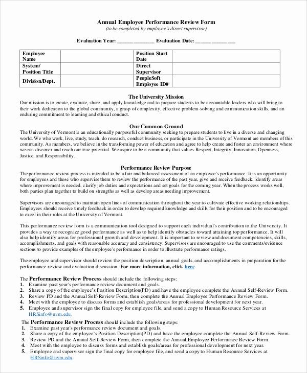 Employee Performance Review Sample Beautiful Performance Review Example 8 Samples In Pdf Word