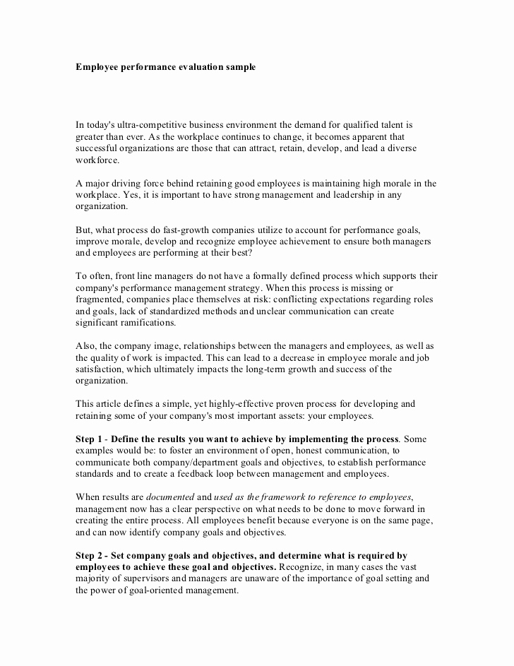 Employee Performance Review Sample New Employee Evaluation Quotes Quotesgram