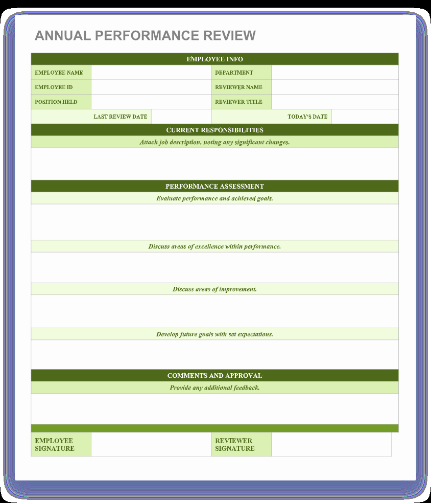 Employee Performance Review Template Word Fresh 70 Free Employee Performance Review Templates Word Pdf