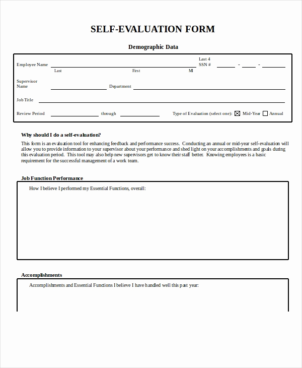 Employee Performance Review Template Word Lovely Employee Evaluation form Example 13 Free Word Pdf