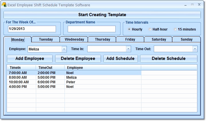 excel employee shift schedule template software enftonic