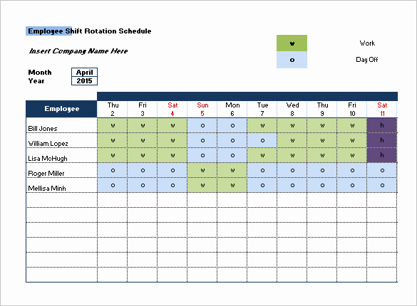 Employee Shift Schedule Template New Shift Schedule Template 20 Free Word Excel Pdf format
