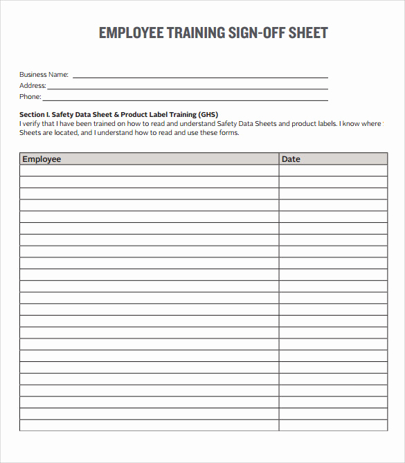 Employee Sign In Sheet New Sample Training Sign In Sheet Template 13 Download