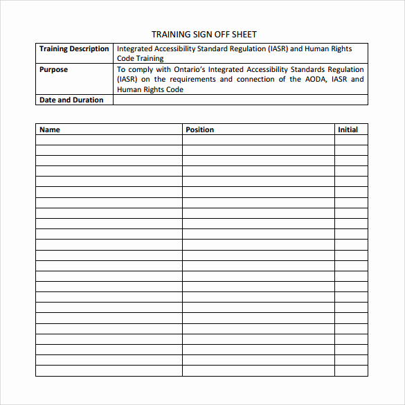 Employee Sign In Sheet Template Best Of Sample Training Sign In Sheet 11 Examples & format