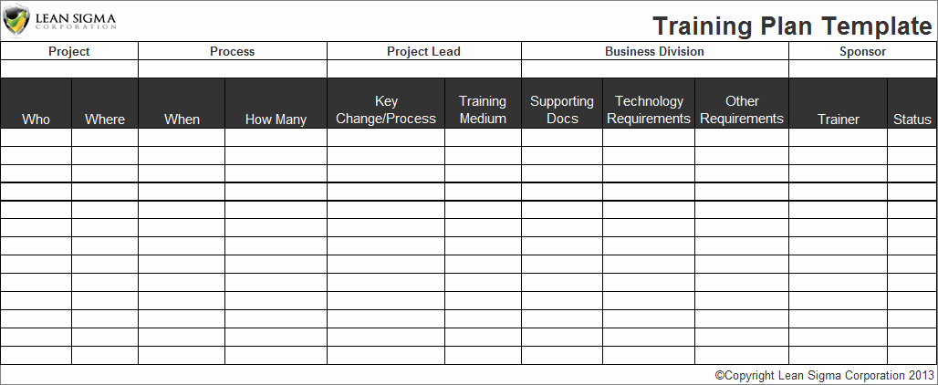Employee Training Plan Template Best Of Employee Training Plan Template
