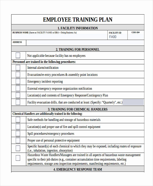 Employee Training Plan Template Inspirational 10 Training Plan Examples Samples