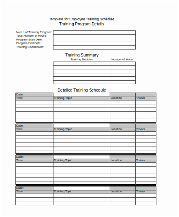 Employee Training Plan Template Lovely 19 Agenda Templates In Excel