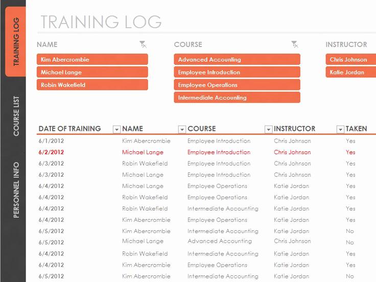 Employee Training Plan Template Luxury Employee Training Tracker Templates Fice