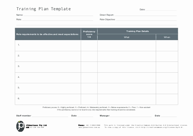 Employee Training Plan Template New Jpabusiness Staff Training Plan Template