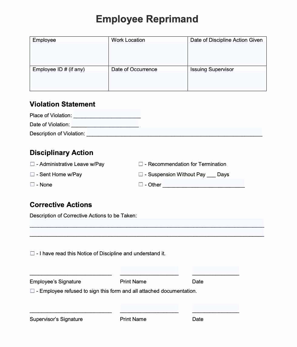 Employee Write Up form Pdf Awesome 20 Employee Write Up form Free Download [pdf Word]