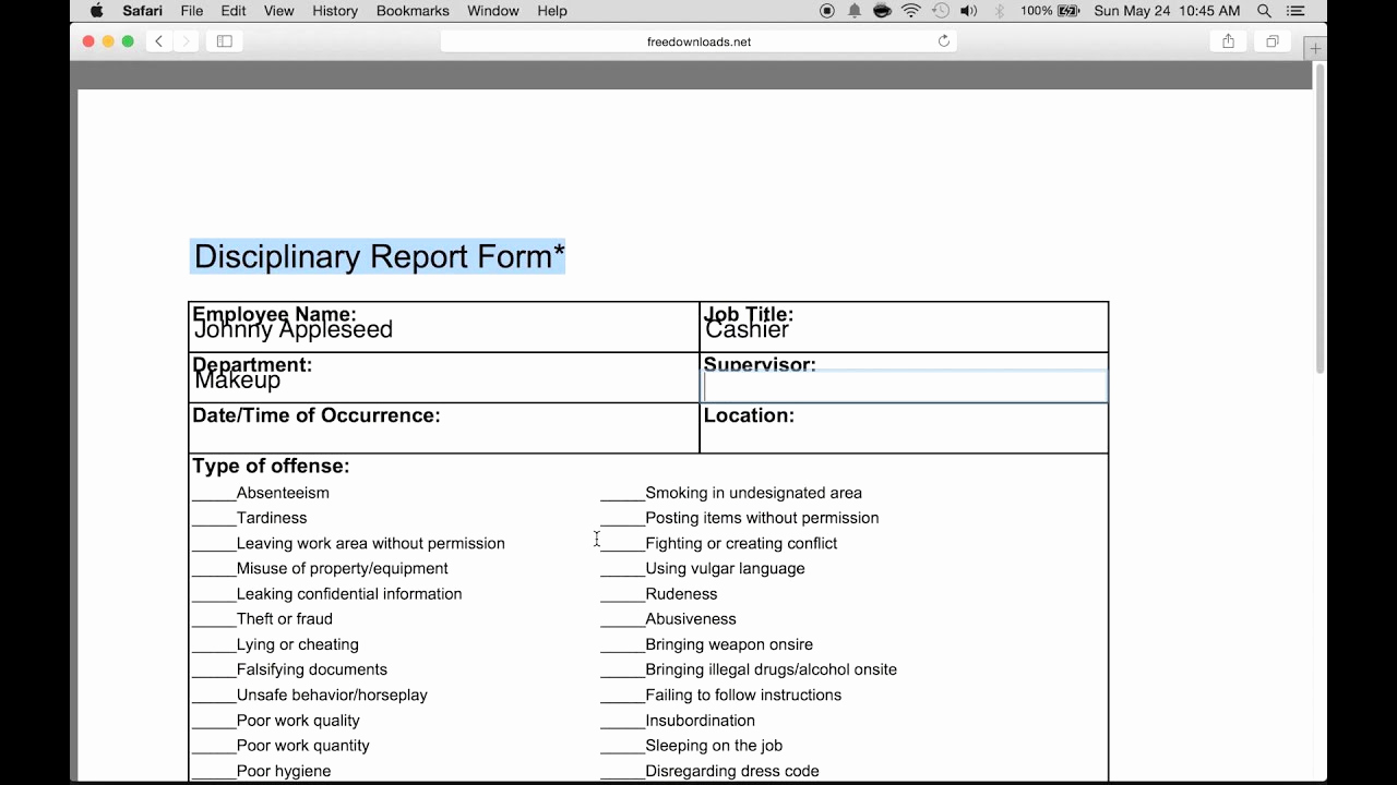 Employee Write Up form Pdf Awesome How to Fill In An Employee Write Up form Pdf