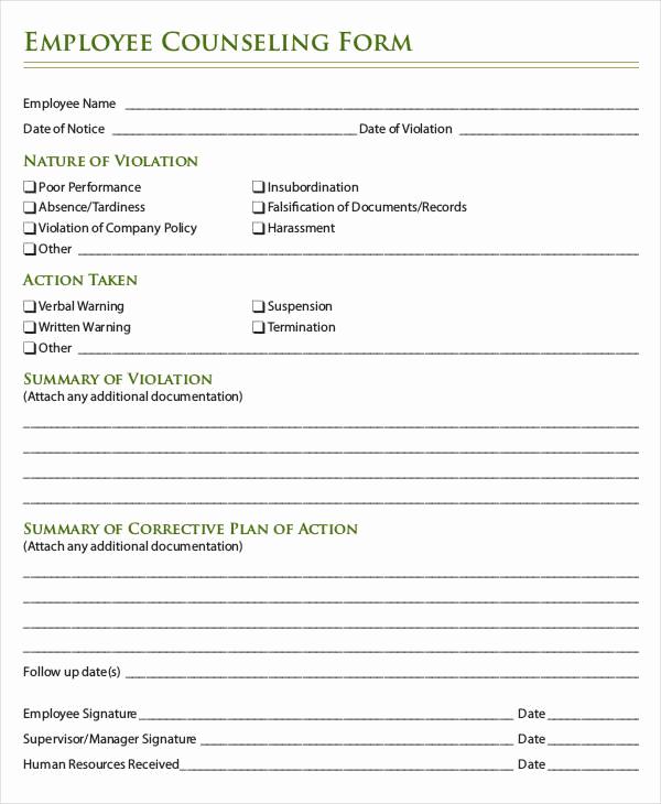 Employee Write Up form Pdf Beautiful Employee Write Up form 6 Free Word Pdf Documents
