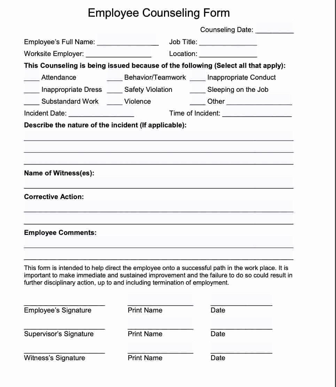 Employee Write Up form Pdf Inspirational 20 Employee Write Up form Free Download [pdf Word]