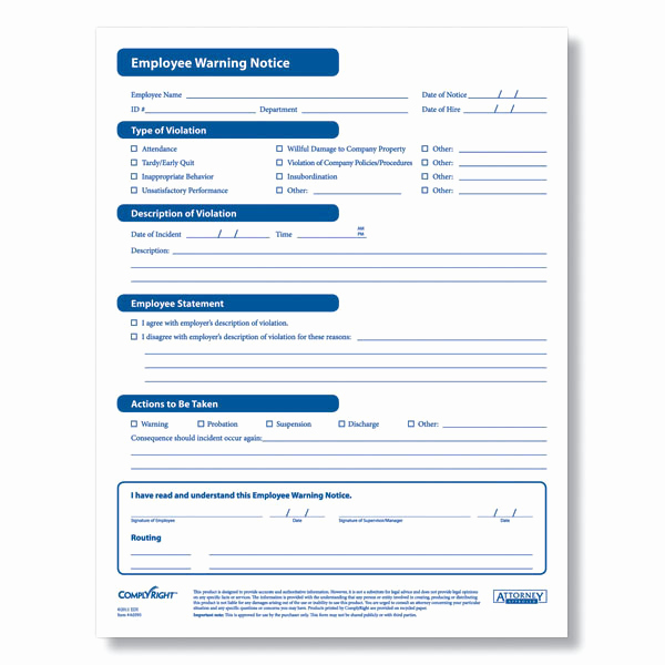 Employee Write Up form Pdf Unique Employee Warning form