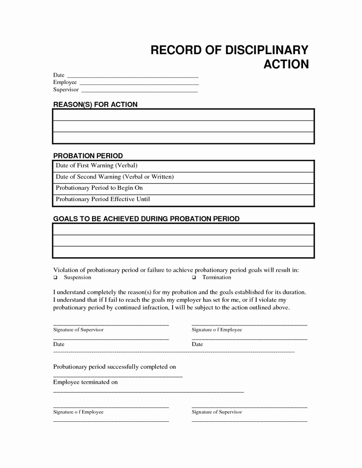 Employee Write Up Sample Best Of Record Disciplinary Action Free Office form Template by