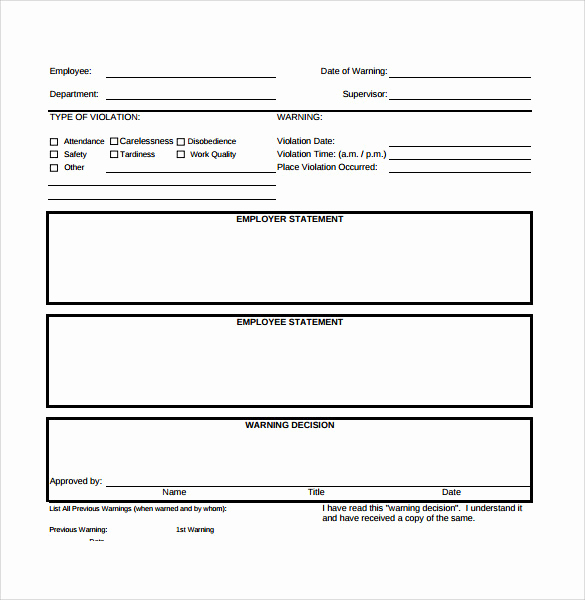 Employee Write Up Sample Elegant Sample Employee Write Up form 7 Documents In Pdf