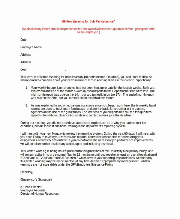Employee Written Warning form Luxury 12 Printable Employee Warning Notice Templates Google