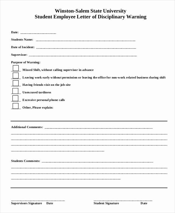 Employee Written Warning Template Free Beautiful Employee Write Up form 6 Free Word Pdf Documents