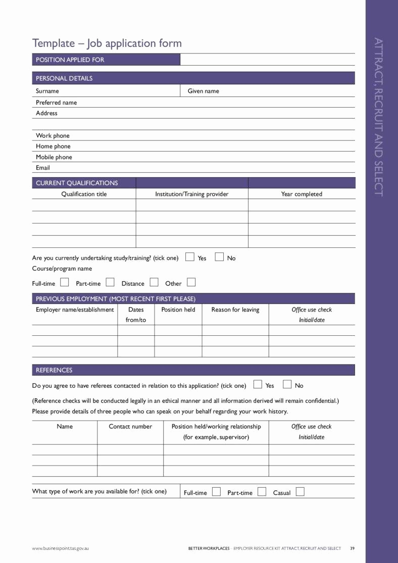 Employment Application Template Microsoft Word Beautiful 7 Application form Templates