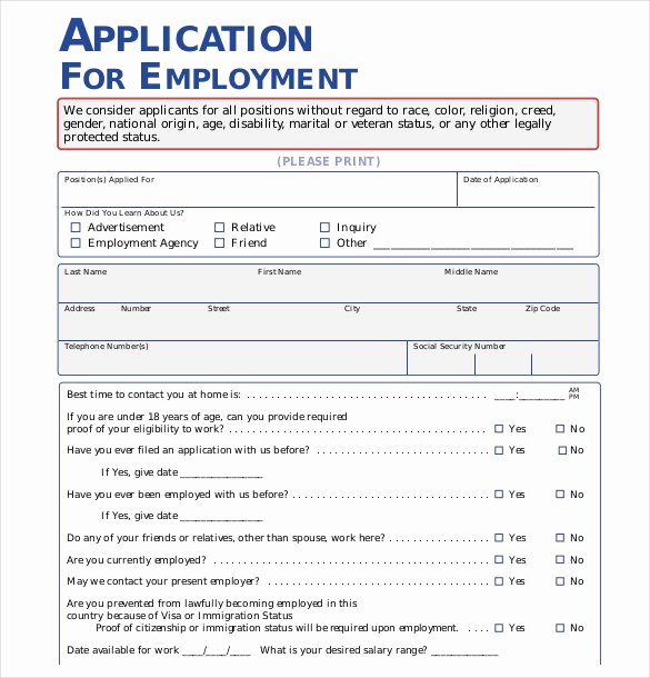 Employment Application Template Microsoft Word Luxury 21 Employment Application Templates Pdf Doc