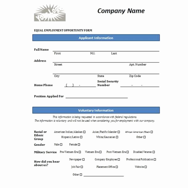 Employment Application Template Microsoft Word New Free Printable Job Application form Template form Generic