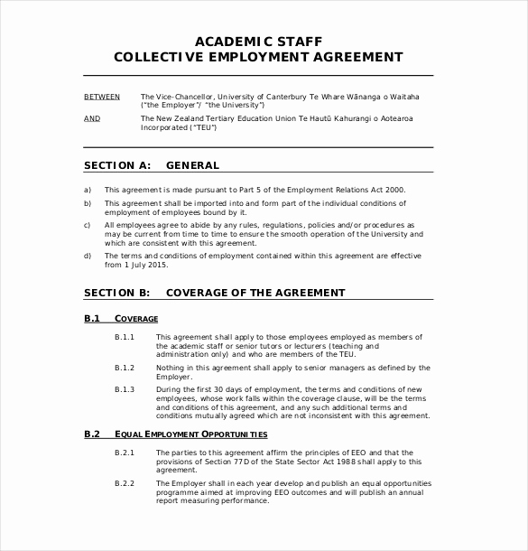 Employment Contract Template Word Awesome 32 Employment Agreement Templates – Free Word Pdf format