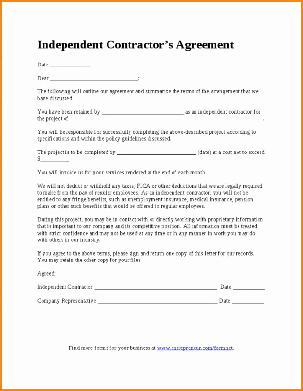 Employment Contract Template Word Elegant Employment Contract Template Word
