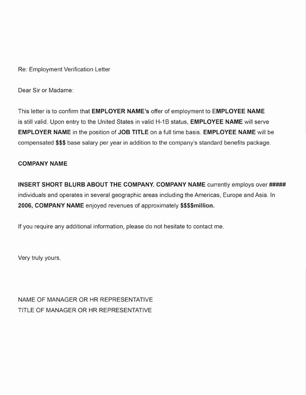 Employment Verification form Templates New Free Printable Letter Employment Verification form