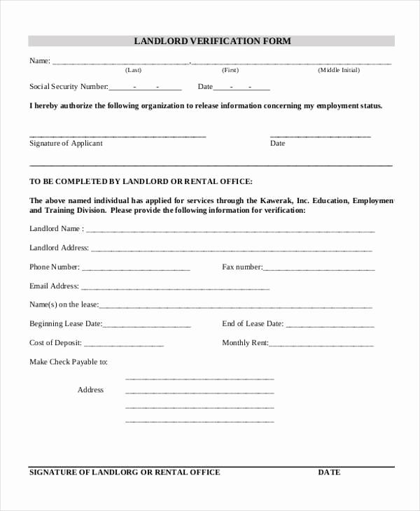 Employment Verification forms Template Inspirational Verification form Templates