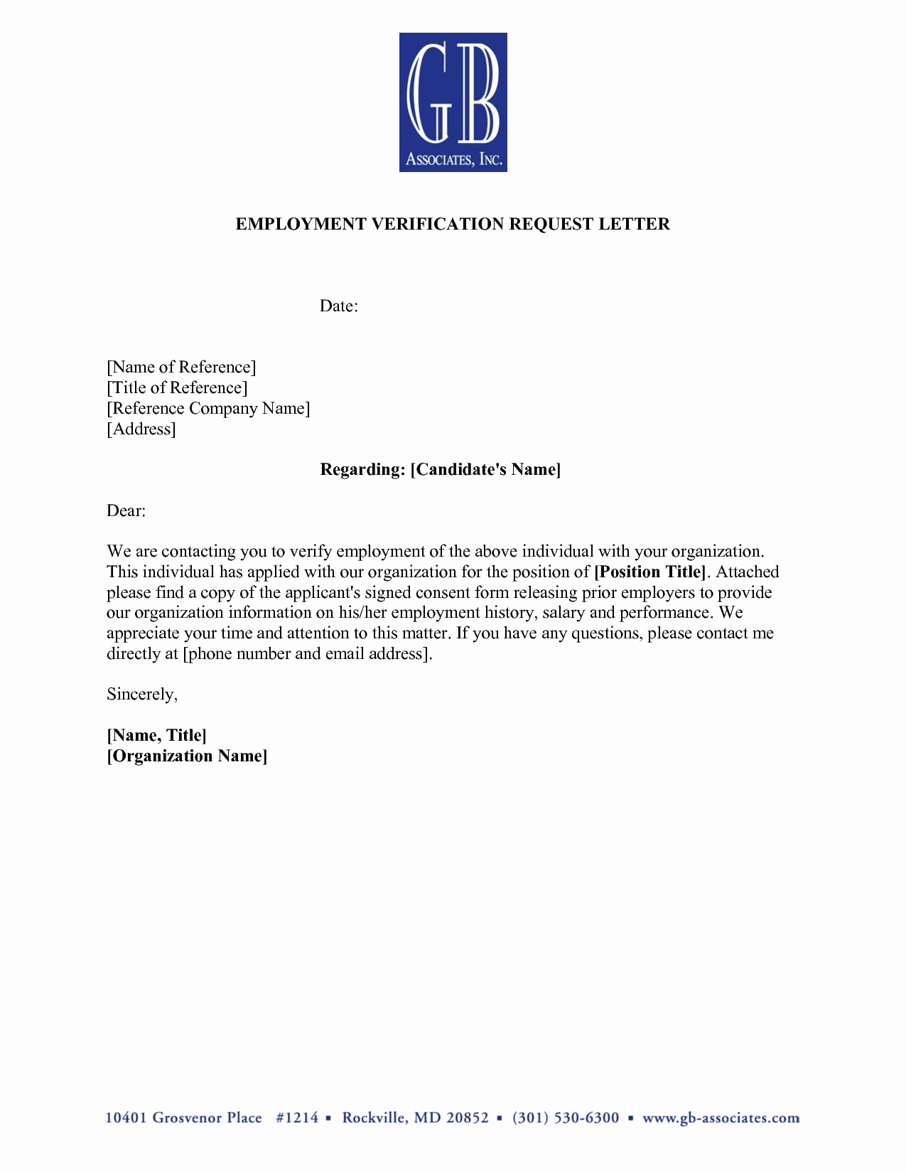 Employment Verification Letter for Visa Beautiful 9 Verification Of Employment Letter Examples Pdf