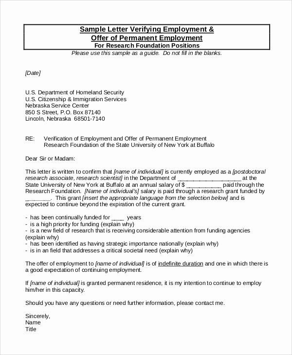 Employment Verification Letter Pdf Elegant 8 Sample Employment Verification Letters