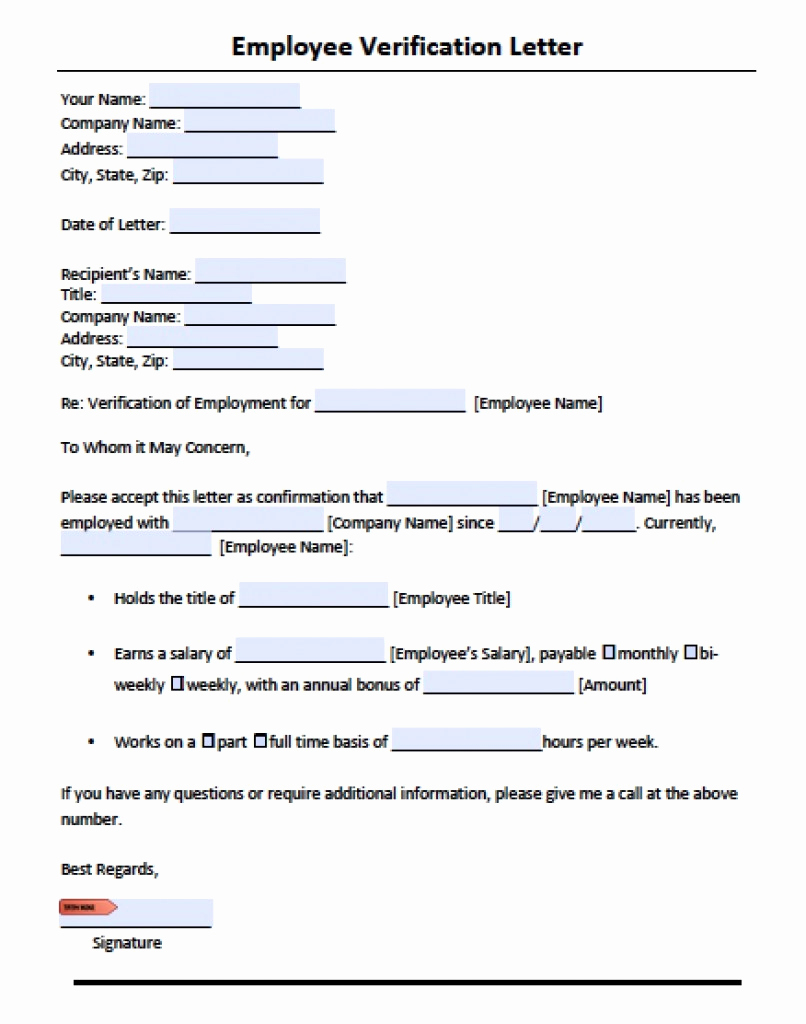 Employment Verification Letter Pdf New 10 Employee Verification Letter Examples Pdf Word