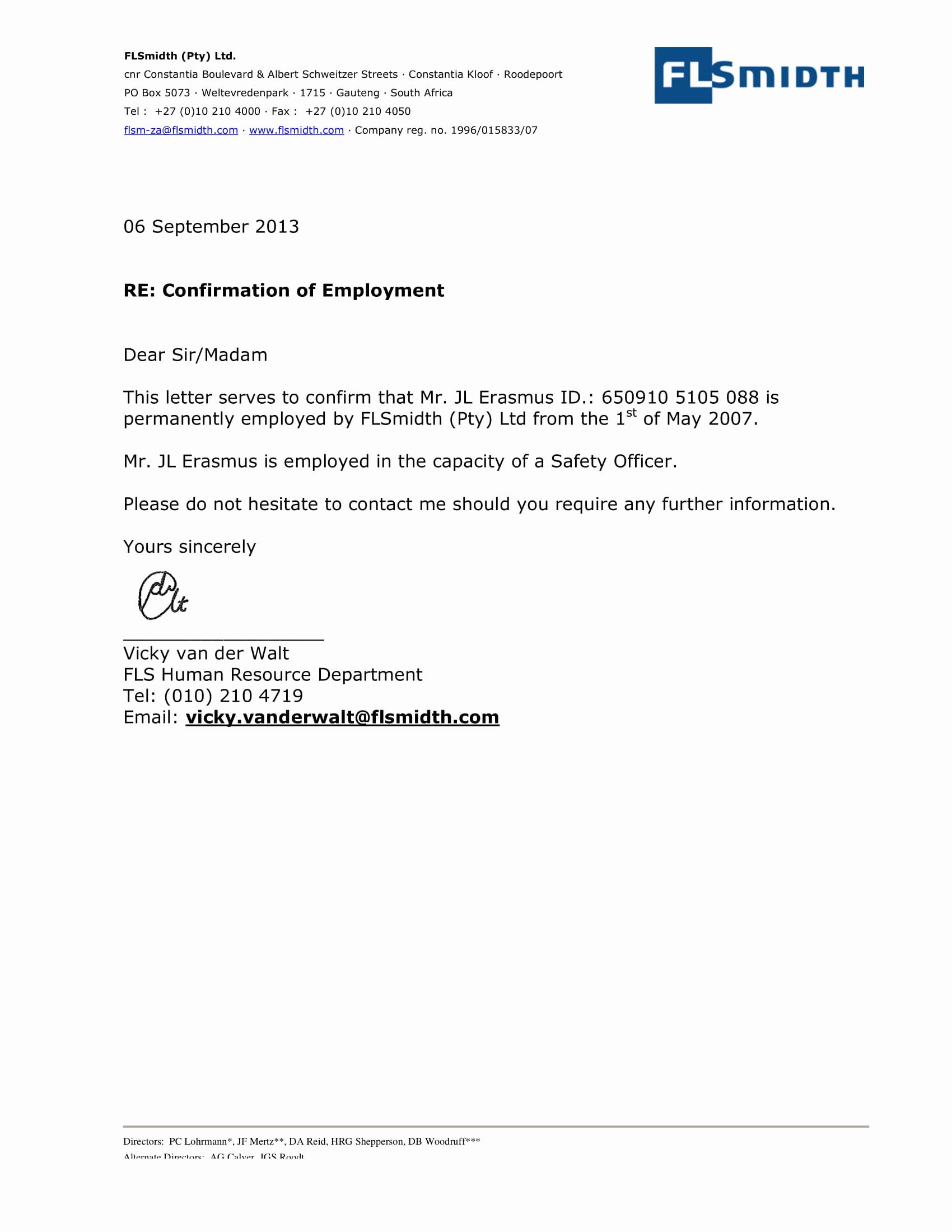 Employment Verification Letter Template Beautiful 29 Verification Letter Examples Pdf