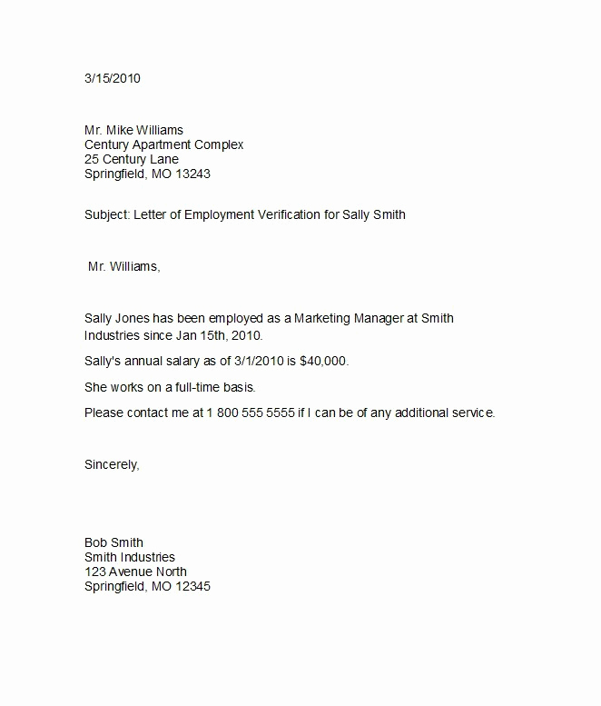 Employment Verification Letter Template Beautiful 40 Proof Of Employment Letters Verification forms