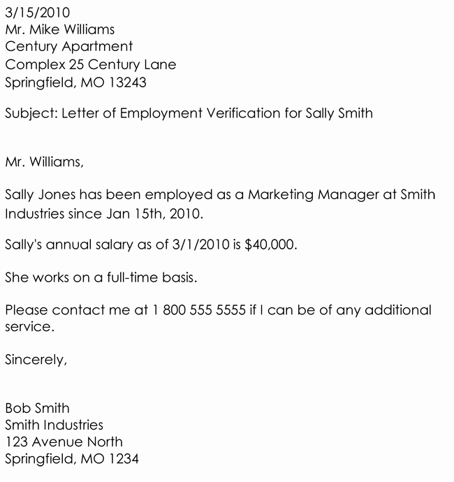 Employment Verification Letter Template Lovely Employment Verification Letter 8 Samples to Choose From
