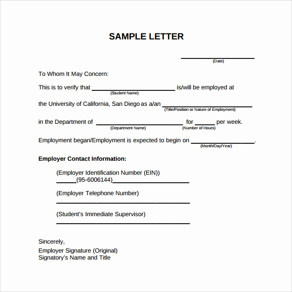 Employment Verification Request form Awesome Employment Verification Letter 14 Download Free