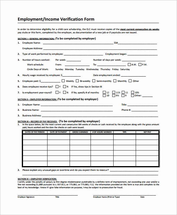 Employment Verification Request form Awesome Sample In E Verification form 9 Free Documents