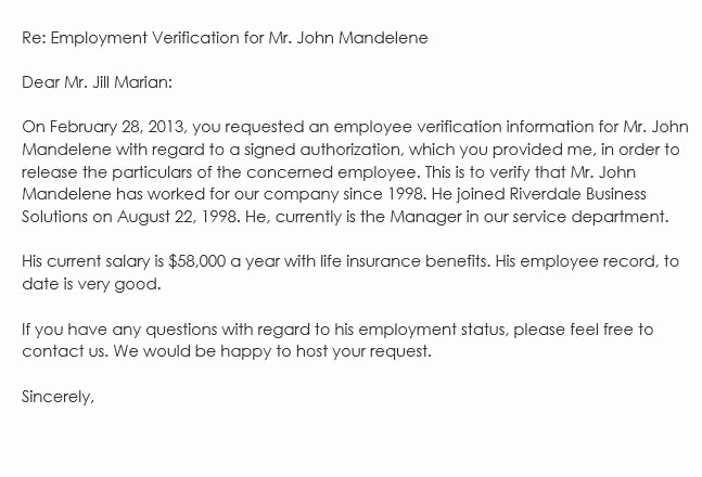 Employment Verification Request form Inspirational Sample Employment Verification Request Letters & Replies