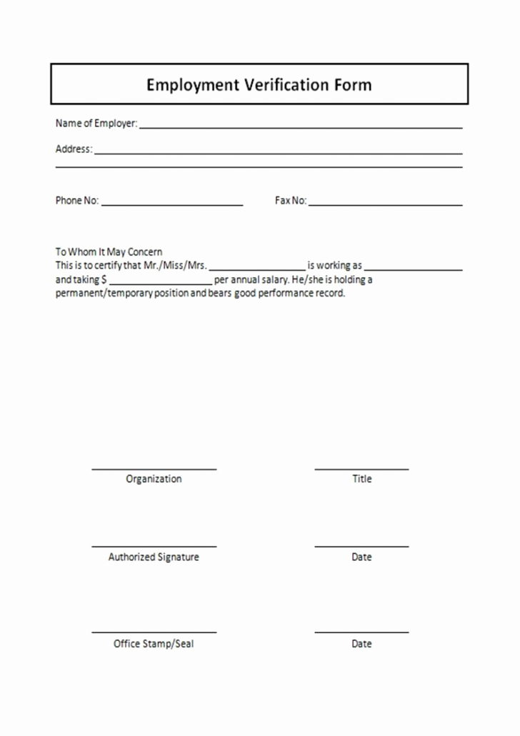 Employment Verification Request form Unique Employment Verification forms Template Pics – Employment