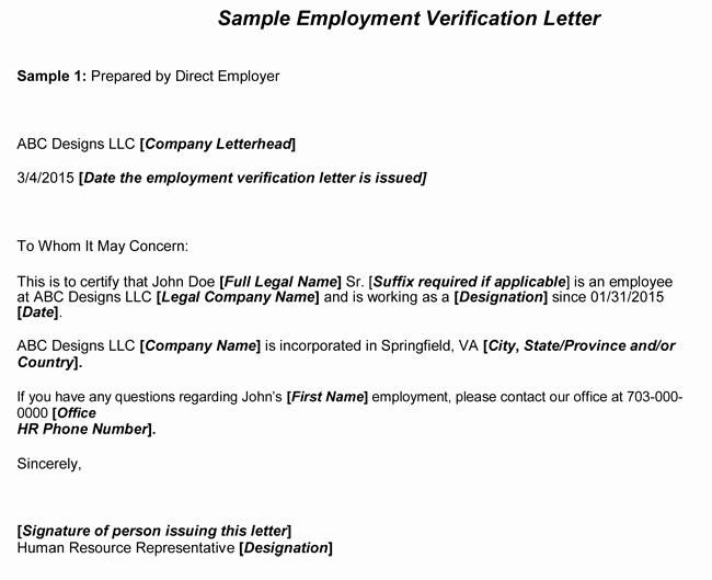 Employment Verification Request form Unique Employment Verification Letter 8 Samples to Choose From