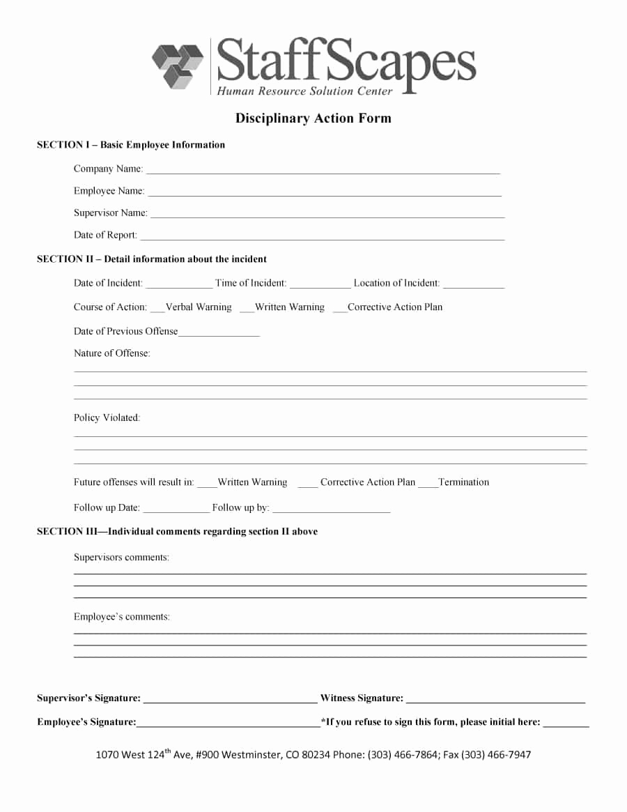 Employment Write Up Template Awesome 46 Effective Employee Write Up forms [ Disciplinary