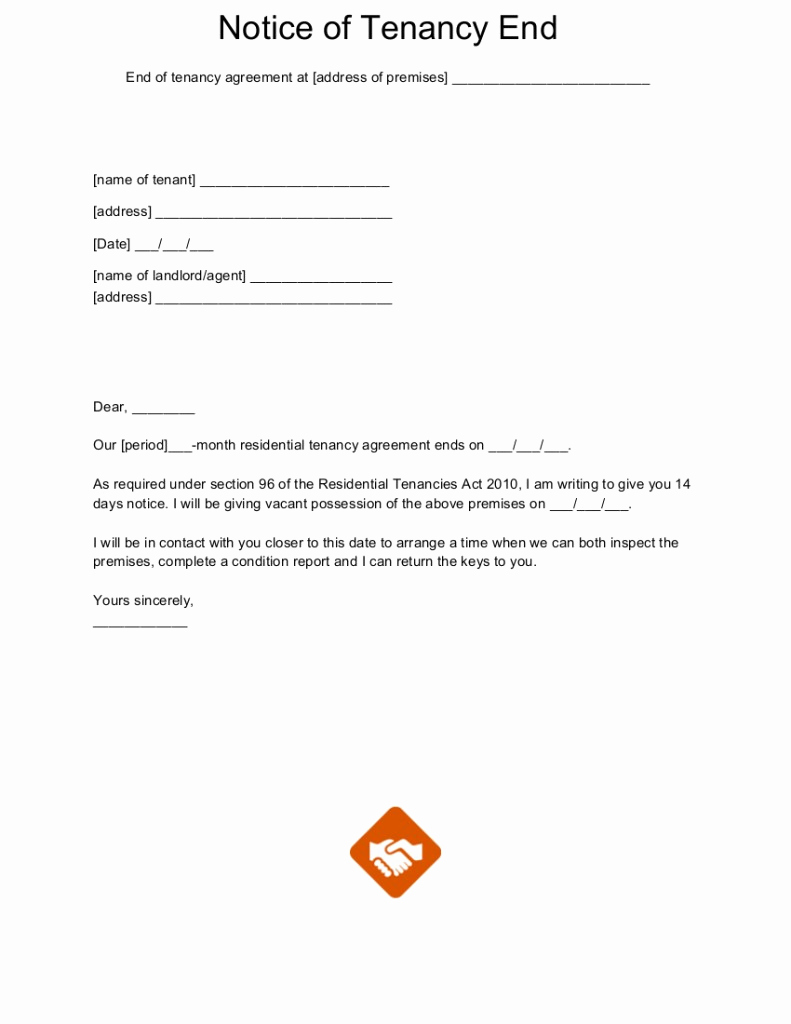 End Of Lease Letters Lovely End Tenancy Letter Templates