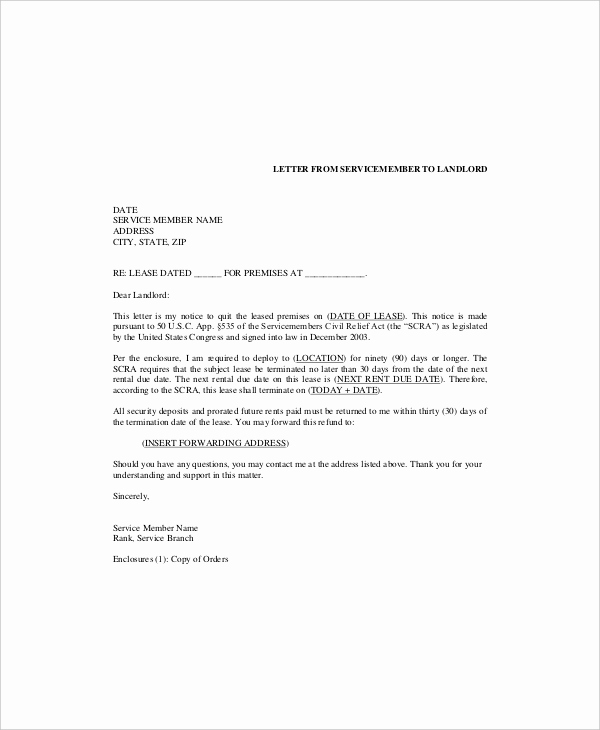 End Of Lease Letters Luxury 6 Lease Termination Templates Free Sample Example