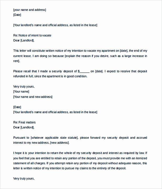 End Of Lease Letters Unique 9 Lease Termination Letter Template